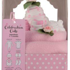 Σετ δώρου για νεογέννητο κοριτσάκι Celebration Cake (ροζ)